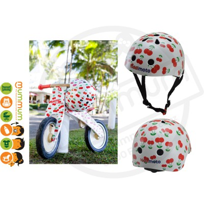 Kiddimoto Adjustable Cherry Helmet