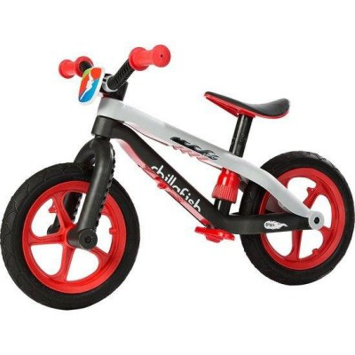 CHILLA FISH BMXie fibre glass balance bike Light My Fire Red
