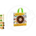 Silli Chews Chocolate Donut, Food Grade Silicone, BPA, PVC, Phthalates free