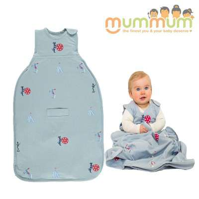 MerinoKids GoGo Bag Standard Weight - Circus Sky Blue 2-4Y