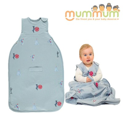 MerinoKids GoGo Bag Standard Weight - Circus Sky Blue 0-2Y