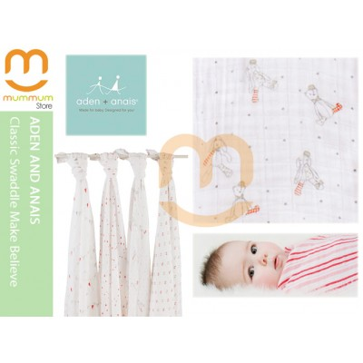 Aden & Anais Muslin 4 Pack Large Wraps - Make Believe