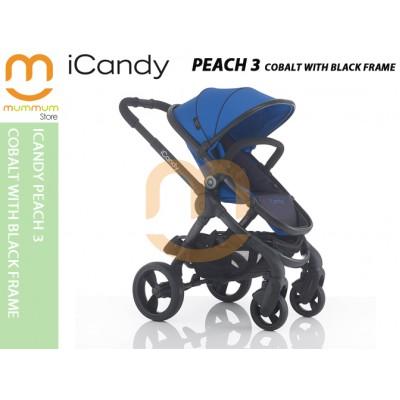 iCandy Peach 3 PushChair - Cobalt With Black Frame