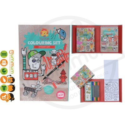Tiger Tribe Colouring Set Street Art