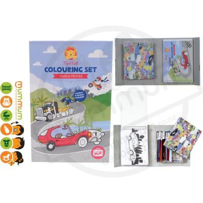 Tiger Tribe Colouring Set Cars & Trucks