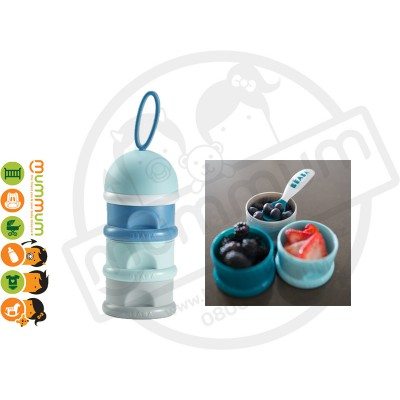 Beaba Stacked Formula/Snack Conatainer (Blue)