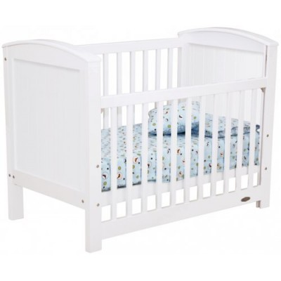 Touchwood Meadow Panelled Cot White inc Luxus Mattress has to pick up from Ellerslie