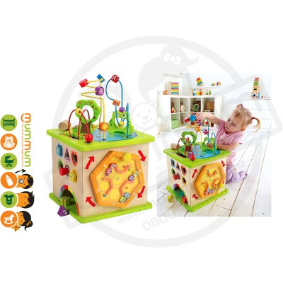 Hape Country Critters Play Cube 10pcs 12m+