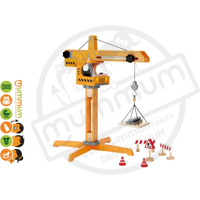 Hape Crane Lift Construction Set 10pcs 3Y+
