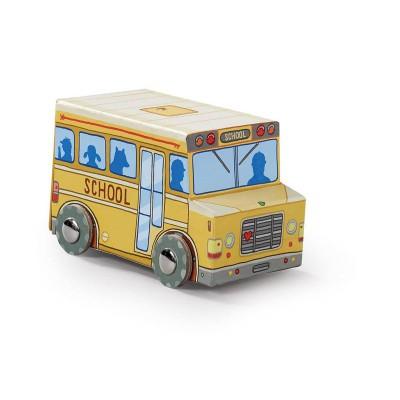 Crocodile Creek Mini School Bus Vehicle Puzzle 24 Pieces