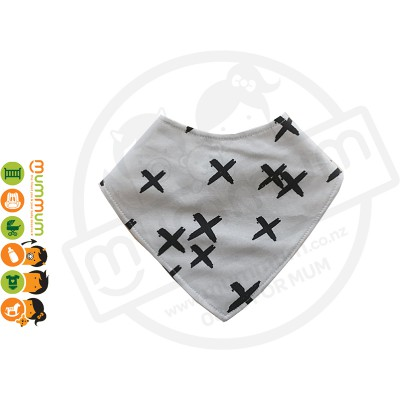 Eversweet Dribble Bib Cross Grey