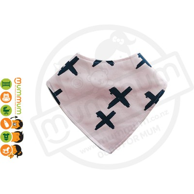 Eversweet Dribble Bib Cross Pink Blush