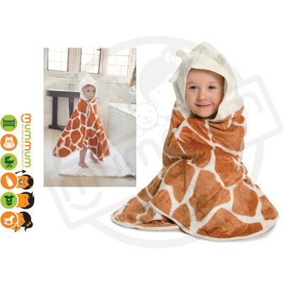 Cuddledry Cuddlesafari Supersoft Toddler Bath Towel