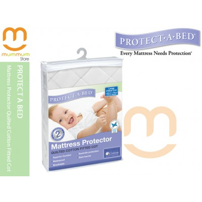 Mattress Protector Quilted Cotton Fitted Cot