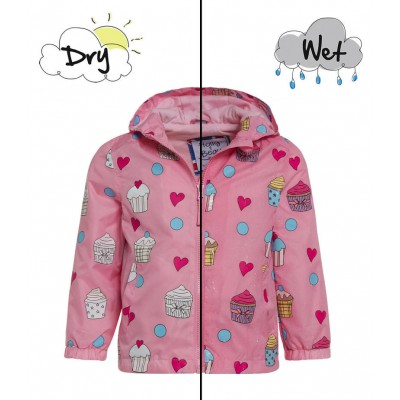 Holly and beau Raincoat Cupcake 2-8Y Color Changing