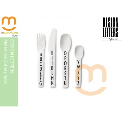 Design Letters Melamine Cutlery 4pc H:12.2 to 17cm