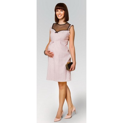 HappyMum Maternity Clothes - Dress Pin Up Pink