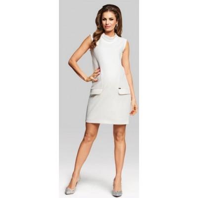 HappyMum Maternity Clothes - Dress Broadway Cream