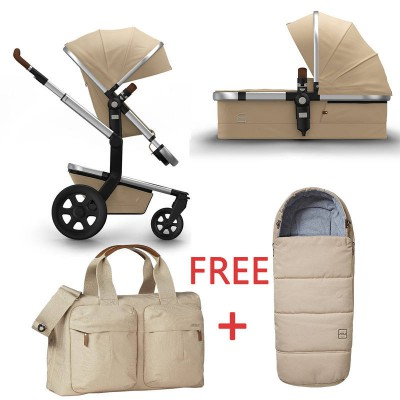 Joolz Day2 Pram Earth Camel Beige with Nursery Bag + Footmuff