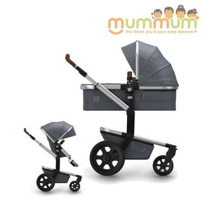 Joolz Day2 Pram Studio Collection Gris (Incl: Chasis, Bassinet, Seat, Storage basket) Dutch Made