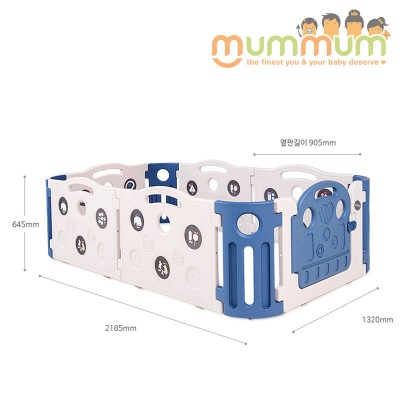 iFam Deluxe Learning Baby Room Playpen Deep Blue  L2.18xW1.32xH65 Made in Korea
