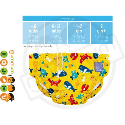 Bambino Mio Swim Nappy Deep Sea Yellow Large 9-12KG