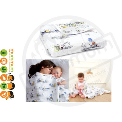 Aden and Anais Disney Baby Classic Dream Blanket - Winnie The Pooh