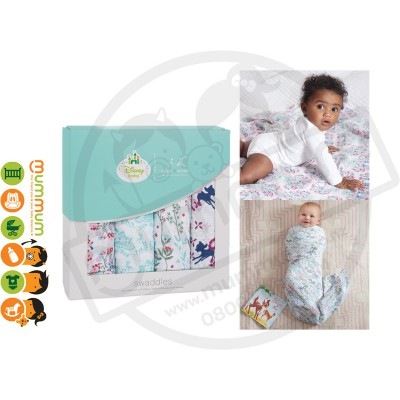 Aden and Anais  Disney Baby Classic Swaddles, Bambi 4pack