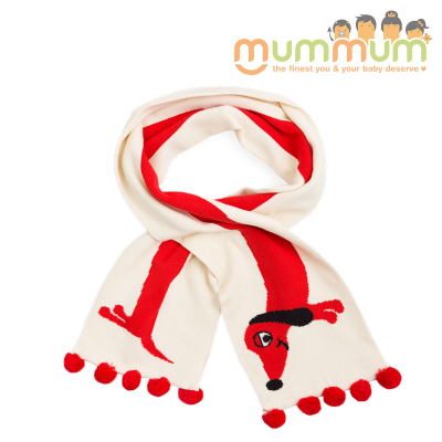 Mini Rodini Dog Scarf Off white