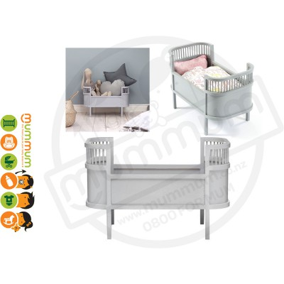 Smallstuff Rosaline Wooden Doll Bed Cot Grey