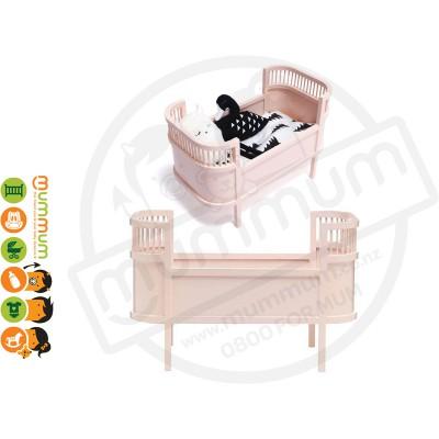 Smallstuff Rosaline Wooden Doll Bed Cot Rose