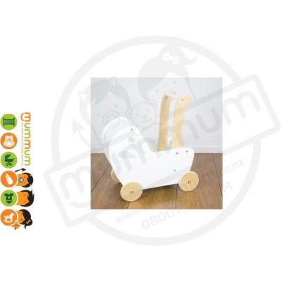 Moover Line Dolls Pram - White