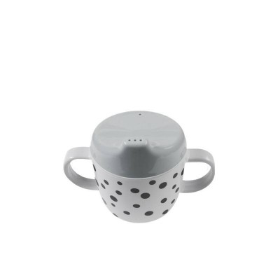 Done By Deer Happy Dots Spout Cup Grey