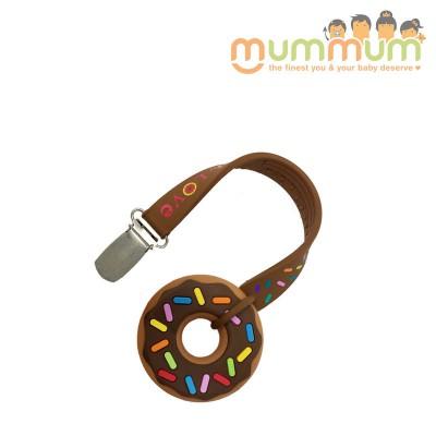 Silli Chews Teether & Strap chocolate donut