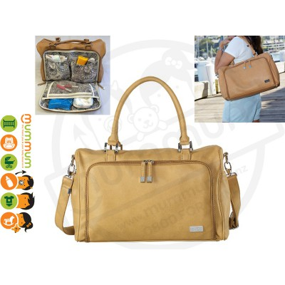 Isoki Double Zip Satchel Nappy Bag Sorrento