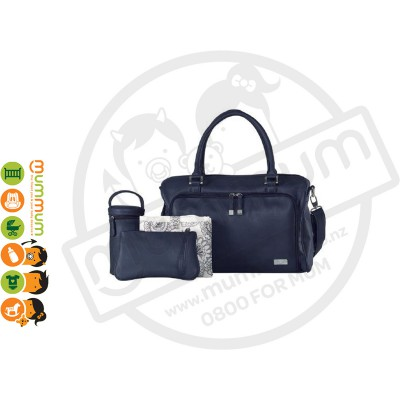 Isoki Double Zip Satchel Bag - Navy/Esperance