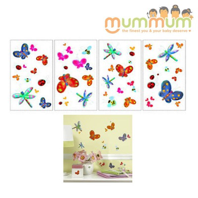 Room Mates Peel and Stick Wall Decals (Jelly Bug Applique)