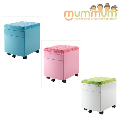 Kid2youth Drawer Unit and Seat with Wheels BLUE/ GREEN/PINK