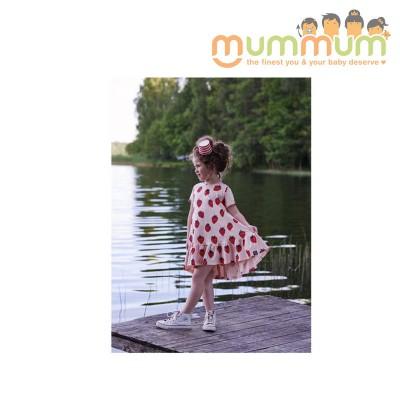 kukukid Dancing Dress Peach strawberry 86-92, 98-104, 110-116, 122-128