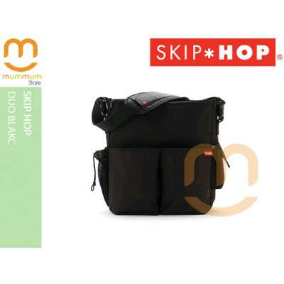 Skip Hop Duo Delux Diaper Bag In Black