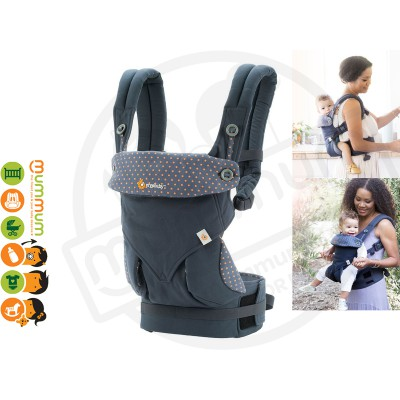 Ergobaby Four Position 360 Baby Carrier Dusty Blue Award Carrier