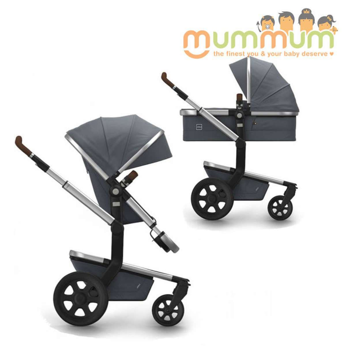 Joolz Day2 Pram Earth Collection Hippo Grey Incl Chassis