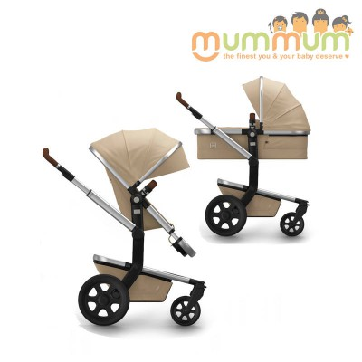 Joolz Day2 Pram Earth Collection Camel Beige (Include Chassis, Bassinet, Seat, storage basket) Dutch Made