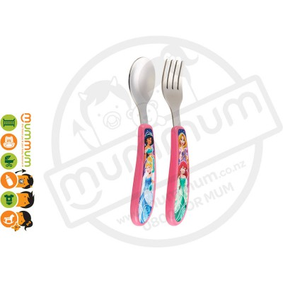 The First Years Princess Easy Grip Fork & Spoon 2 Pack