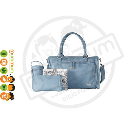 Isoki Double Zip Satchel Bag - Eden Blue