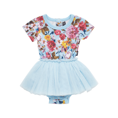 Rock your baby nothing but flowers-ss circus dress light blue 3-12mth