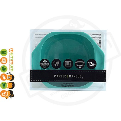 Marcus & Marcus Baby Suction Bowl Elephant - Green