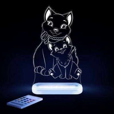 Aloka Night Light Cat Multi Colour With Remote Control