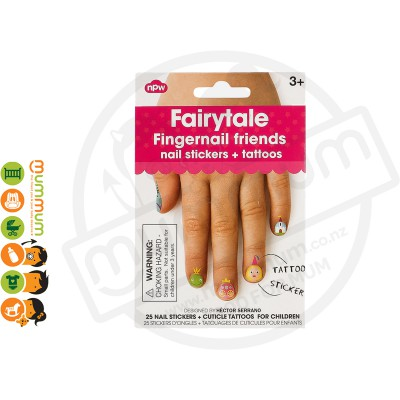 Npw Fingernail Friends Fairytale Nail Stickers / Accessories