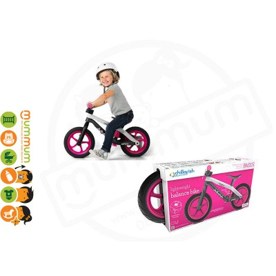 CHILLA FISH BMXie Fibre Glass Balance Bike Killer Queen Pink 2-5yrs